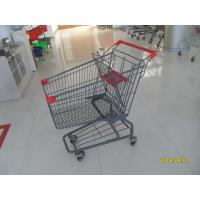 Cheap Custom Logo Grocery Shopping Trolley For Metallic Distribute Store 125L for sale