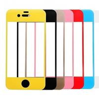Cheap For Iphone 6/6 Plus Colored Tempered Glass Screen Protector Full Cover ,OEM/ODM,Wholesale for sale