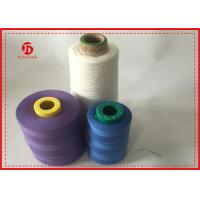 Semi - Dull Fiber Dyed Spun Polyester Thread , Heavy Duty Polyester Thread
