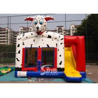 Cheap Outdoor N indoor spotted dog inflatable bounce house with slide for family yard parties for sale