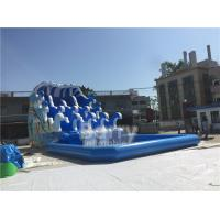 Cheap Outdoor Wave Inflatable Water Pool Slip N Slide / Water Sport Games PVC Tarpaulin Material for sale