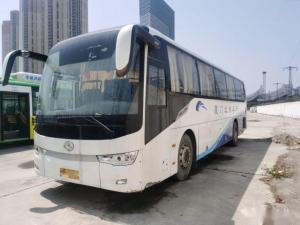 Cheap XMQ6119 Used Kinglong Buses 56 Seats 2+3 Layout Used Tour Bus Rear Engine Double Doors Left Hand Drive Airbag Chassis for sale
