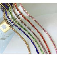 Cheap Gold Plated Metal Crystal Rhinestone Cup Chain for sale