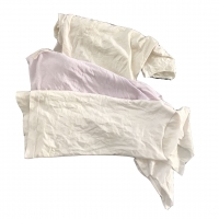 Cheap No Metal Cotton Pure White T Shirt Rags For Workshop for sale