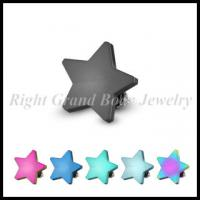 Cheap 316L Stainless Steel Dermal Anchor Jewelry Star Shape For Party for sale