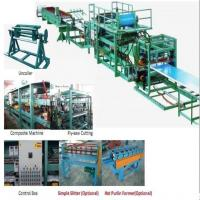 Cheap 32KW 380v Sandwich Roll Forming Machine used to produce foam board, black board and rockwool machine for sale