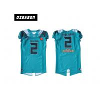 Cheap Polyester Mesh Sublimated Football Jerseys / American Football Shirt For Training for sale