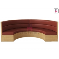 Cheap Round 2.8cbm Tufted Plywood Frame Restaurant Booth Pu Leather for sale