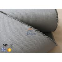 Cheap Grey 1500gsm 1.5mm E Glass Cloth , Silicone Coated Fiberglass Cloth Sheets for sale