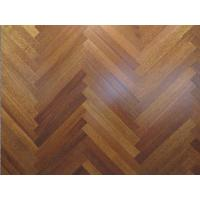 Cheap Herringbone Merbau wood flooring, fishbone merbau engineered floor, natural color, semi-matt gloss for sale