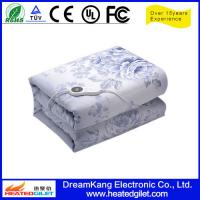 Cheap 100% cotton material heated blanket with printting for sale