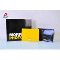 Yellow & Black Color Customized Logo Promotional Paper Bags Glossy Lamination