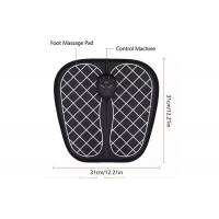 Cheap electrical foot massager with detachable control unit EMS electric mat foot circulation massager for sale