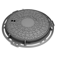 China Hinged Type Casting Ductile Iron Manhole Cover , EN124 DN400 Locking Manhole Covers on sale