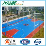 Cheap 4mm Silicon PU Sports Flooring / Green Badminton Court Flooring Durable Seamless for sale