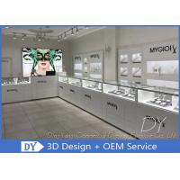 Cheap Modern Glossy Pure White Wood Glass Jewelry Display Cases Wholesale for sale