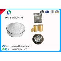 Cheap 99% Pharmaceutical Powder Norethindrone /17a-ethynyl-19-nortestosterone CAS 68-22-4 for sale