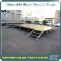 Portable stage platform with adjustable height legs non-slip industrial surface stage decks for outdoor concert equip Manufactures