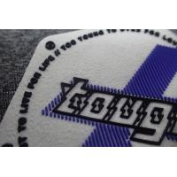 Cheap OEKO Injection Rubber Logo Patches for sale