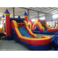 Cheap Backyard Large Inflatable Bounce House With Slide 0.6 + 0.9mm PVC Tarpaulin for sale