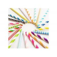 Cheap Degrading Kraft Paper Colored Paper Straws Long 20cm With Caliber 0.5cm for sale