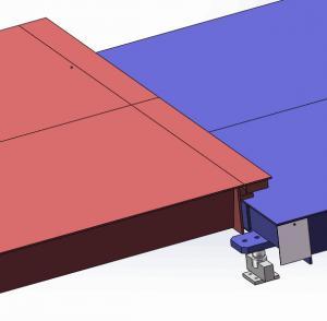 Hot Galvanized Truck Weigh Scales 3 X 18m 70t Carbon Steel Portable Weighbridge