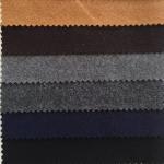 Cheap Graceful Color Wool Melton Fabric Soft Hand Feeling Fit Women / Men'S Garment for sale