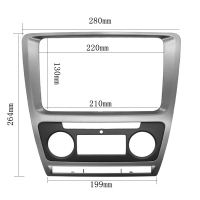 Cheap Fascia For Skoda Octavia Auto AC 2010 - 2013 DVD Stereo Frame Mounting Panel Dash Installation Bezel Trim Kit for 2 Di for sale