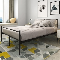 Buy cheap Adult Metal Pipe 1.5mm Thick Double Platform Bed Frame Electrostatic Powder from wholesalers