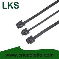 Cheap LKS-610S PPA Coated Releasable Stainless Steel Cable Ties for sale