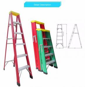 Cheap Safety Insulated Fiberglass Adjustable Ladder / Fiberglass Telescopic Ladder for sale