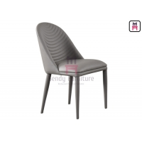 Cheap Fully Upholstered PU Leather Restaurant Dining Chair 0.33cbm Metal for sale