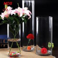 Glassware Wholesale Bohemia Crystal Cylinder Clear Glass Flower Vase