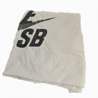 Buy cheap Marine Cleaning Lint Free Recycled White Printed T-Shirt Cotton Wiping Rags from wholesalers