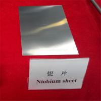 Cheap 99.95% ASTM B393 Smooth bright annealed niobium plates/sheets for sale for sale