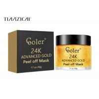 Cheap 24K Gold  Skin Care Peel Off Mask Rejuvenating Anti Aging Reduces Fine Lines for sale