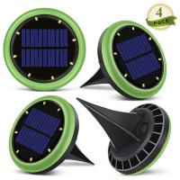 Cheap 8 Led Solar Ground Lights Garden Solar Disk Ground Light For Night 2 Years Warranty for sale