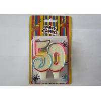 Smokeless Glitter Rainbow Outline Number 50 Birthday Cake Candles For Anniversary Manufactures