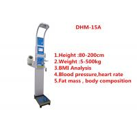 Cheap Medical BMI Coin operated body fat Composition height weight measuring machine with printing and blood pressure for sale