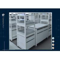 All Wood MDF Board Laboratory Work Benches , Hanging Type Laboratory Benches And Cabinets