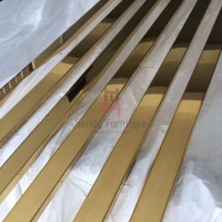 Cheap Brushed Gold Electroplating Furniture Color Palette SS 2.7m for sale