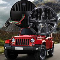 "Cheap 60W 7"" Fog Jeep LED Headlights With Hi / Lo H4 Or H13 For Wrangler JK for sale"