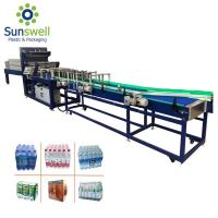 Cheap PVC PE Film Shrink Packaging Equipment , Water Bottle Heat Wrapping Machine for sale