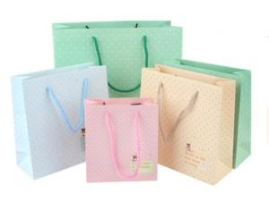 Cheap Reusable 130gsm CCNB Board Eco Friendly Paper Bag for sale