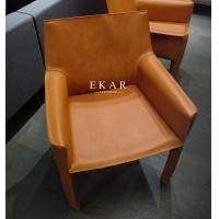 Cheap Leather Contemporary Design Restaurant With Armrest Modern Dining Room Chair for sale