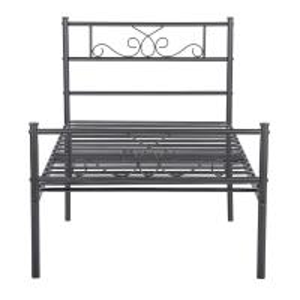 Cheap Environmental Metal Platform Bed , Black Cast Iron King Size Bed Frame for sale