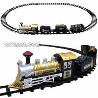 Plastic toy train set