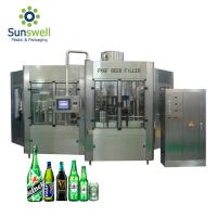 Cheap Rotary Type Beer Can Filling Machine , Bottle Filling And Capping Machine for sale