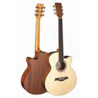 Cheap Senior Full Size Spruce Solidwood Western Guitar / Wood Acoustic Guitar Professional TP-AG for sale