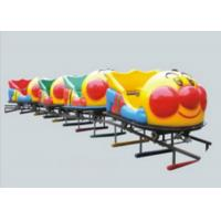 Cheap Durable Big Capacity Ride On Toy Train With Tracks Galvanized Iron Pipe + LLDPE for sale
